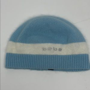 Vintage Bebe rabbit hair fall winter beanie cap